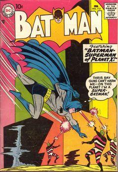 Batman #113, february 1958, cover by Sheldon Moldoff.