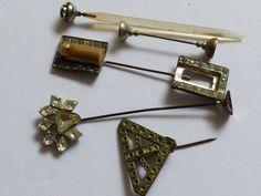 VTG Antique Lot of 5 Victorian Rhinestones hat pin sticks | eBay
