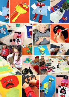 Mes Ateliers  Le monstre imaginaire, enfants de maternelles.