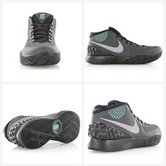 "Nike Kyrie 1 ""Driveway"" black/reflective silver/dark grey/green glow"