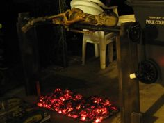 How to Create a Cheap and Easy Burning Coals Prop for Halloween « Halloween Ideas :: WonderHowTo Halloween Forum, Holidays Halloween, Halloween Crafts, Happy Halloween, Halloween Party, Halloween Decorations, Halloween Halloween, Halloween Camping, Yard Decorations