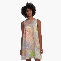 'Pink Watermelon pattern' A-Line Dress by Frankenstein, I Dress, Shirt Dress, Boho Dress, Flower Patterns, Pretty Woman, Chiffon Tops, Designer Dresses, Shirts