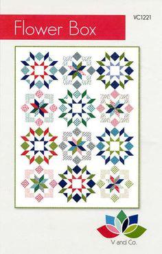 Flower Box #basic-piecing #beginner #intermediate #pattern #quilt #quilt-pattern #v-and-co