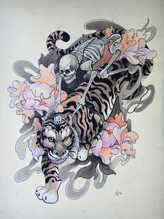Tattoo design - Riders by *Xenija88 on deviantART - would not be a fan of the skeleton personally