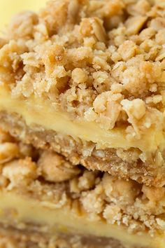 Lemon Creme Crumb Bars Recipe ~ these bars are over the top and completely irresistible!