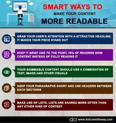 Smart Ways To Make Your Content More Readable!  #contentmarketing #tips #content