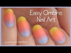Ombre gradient nails diy purple green sponge nail art easy ombregradient nail art tutorial youtube prinsesfo Image collections