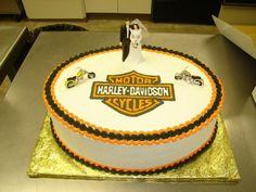 harley davidson wedding cake   Harley-Davidson themed wedding cake. in Celebrations by Lori - Wedding ...