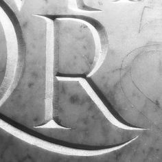 """R"" is for Roman! #handletteredabcs #abcs_r #typography #typeverything #lettering #stone #marble #stonecarving"