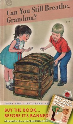 Dark Parodies of Classic Children's Book Covers - Bad Little Childrens Books - Funny Books For Kids, Funny Kids, Archie Comics, Ladybird Books, Up Book, Little Golden Books, Bedtime Stories, Adult Humor, Childrens Books