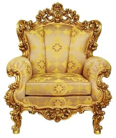 gold chair .@@@@......http://www.pinterest.com/marrikanakk/don-t-like-it-spray-it-with-gold/