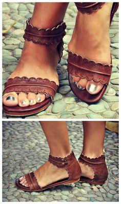 Cool Brown Open Toe Flat Sandals  ericdress  ericdressreviews Brown Gladiator  Sandals 21fe83a2cb42