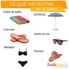 ¿Quién está list@ para la playa? #AprenderEspañol --- Who's ready for the beach? #SpanishVocab