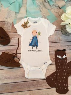 Future Khaleesi Onesie®, Game of Thrones Baby Clothes, Baby Shower Gift, Baby Girl Clothes, Khaleesi Baby, Dragon Onesie, Princess Onesie