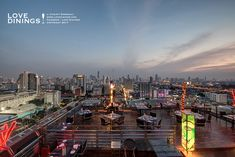 The roof siam at siam rooftop bar and restaurant siam at siam hotel Bangkok Thailand B. Rooftops, Rooftop Bar, Bangkok Thailand, Times Square, Tourism, Travel, Turismo, Viajes, Rooftop