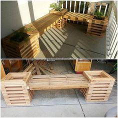 People who are worried because of less space available in their home, but they want seating arrangement as well as want to decorate the home with the plants can make a recycled wood pallet bench with attached planters. The idea is presented here, which is innovative and will make the area inspiring.