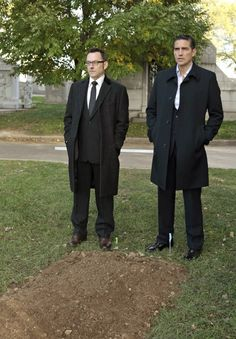 Still of Jim Caviezel and Michael Emerson in Person of Interest
