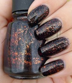 china glaze fortune teller Black Nail Polish, Nail Polish Colors, Nail Polish Designs, Nail Designs, Fortune Teller, Halloween 2014, China Glaze, Costume Ideas, Make Up