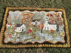 A VERY SPECIAL EXTRA LARGE HOOKED RUG-SIGNED A.H.W.AND DATED 1986 BY NOTED RUG HOOKER AND ARTIST ANN WINTERLING OF CONCORD N.H.- 4' wide , 6' high  eBay