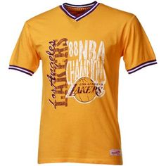 Mitchell & Ness Los Angeles Lakers Gold Double Dribble Premium T-shirt