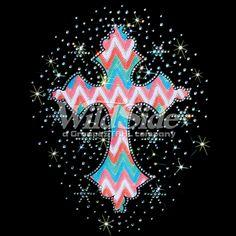 "EARTH TONES CROSS ""Cross, earth-tones, fabric, Rhinestone, stone, Material Transfer, Crosses & Fleurs De Lis"" glitter lace"