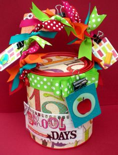 Teacher Gift Container by Lotus Blossoms Designs on etsy