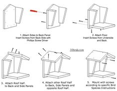Print mourning dove platform plans or just view on a phone in your workspace. See which birds nest this platform, how to build it and where to mount it. Homemade Bird Houses, Bird Houses Diy, Bird House Plans, Bird House Kits, Mourning Dove Nest, Building Bird Houses, Dove House, Barn Swallow, Swallow Bird