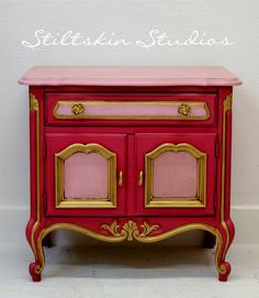 I have utterly no need for this but it makes me smile - and at $275 it is quite the bargain.  Drexel, deliciously hand-painted by Stiltskin Studios (look at the rest of the store - swoon worthy...)
