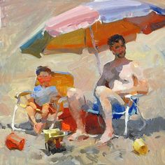 """Father's Day by Kevin Macpherson Oil ~ 12"""" x 12"""""""