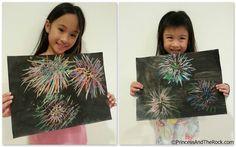 Fireworks Art Kids Art Party, Party Fun, Kindergarten Art, Preschool Art, Kid Art, Art For Kids, Summer School, Summer Fun, Bonfire Night Treats