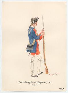 British; Pennsylvania Regiment, corporal, 1760