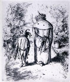 """A. Paul Weber """"Wie sagen wir's dem Volke?"""" 1943 Myths & Monsters, Court Jester, Photo Art, Fantasy Art, Fairy Tales, Weird, Museum, Illustration, Prince"""