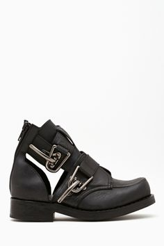 """""""roscoe cutout boot in gunmetal by jeffrey campbell"""""""