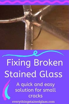 Fixing cracked or broken stained glass is a necessary evil. With art glass as a material breakages are inevitable.Rather than having to undo your stained glass project there is a simple fix. Craftsman Stained Glass Panels, Contemporary Stained Glass Panels, Victorian Stained Glass Panels, Stained Glass Repair, Hanging Stained Glass, Stained Glass Birds, Faux Stained Glass, Stained Glass Designs, Stained Glass Projects