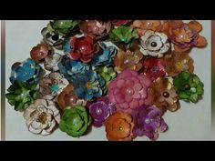 Como fazer flor de caixa de leite reciclada - YouTube