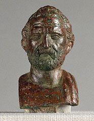 Bust of Demosthenes             Roman, 100 - 1 B.C.   Bronze