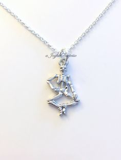Skeleton Jewelry Bone Necklace, Halloween Jewelry Anatomy Gift Zombie Charm Skeletal System Gamer Boyfriend man birthday Christmas present by aJoyfulSurprise on Etsy