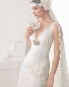 Tres vestidos de novia 2014 de Rosa Clará