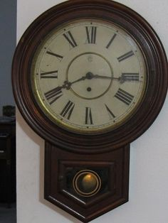 Up for bidding is a Waturbury Clock Co., Antique Schoolhouse Wall Clock. This clock is in decent shape but not mint. The wood is fairly nice. It does not have any chips out of the front at all, but do