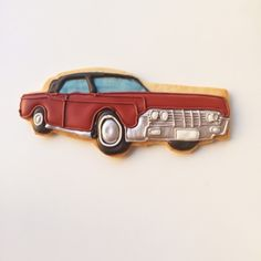 Classic Car decorated cookie favor