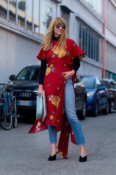 On the street at Milan Fashion Week. Photo: Moeez.