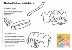 DIY Kleurplaat Bruidssluier - Saar en het trouwfeest - Pauline Oud Illustraties - Clavis Uitgeverij