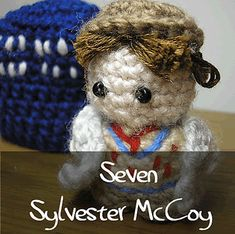 Dr Who - Seventh Doctor by Nyss Parkes (These mini Doctors do come in one single download, but they simply must be represented individually!) Free Pattern: http://www.ravelry.com/download/146980/free  #TheCrochetLounge #DrWho Collection