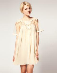 Asos swing dress with mesh and trim detail. #Asos #dress