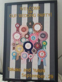 「いよいよ今日です!ウェルカムボード②」の画像|wedding note♡takaco… |Ameba (アメーバ)