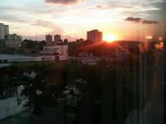 Pôr do Sol em um dia chuvoso em Manaus