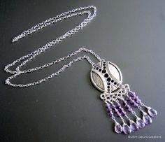 De Cris Creations - Amethyst Necklace Purple Delight
