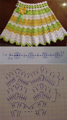 A La Moda Azhur Vestidosparabebédeganchillo - Butchart Gardens - Diy Crafts - DIY & Crafts Crochet Baby Cardigan, Crochet Baby Boots, Crochet Baby Clothes, Crochet Shawl, Crochet Yarn, Crochet Stitches, Crochet Skirt Pattern, Crochet Skirts, Crochet Patterns