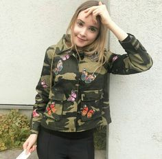 Baby's jacket but she looks cute Taylor R, Rain Jacket, Bomber Jacket, Military Jacket, Windbreaker, Cute, Jackets, Fashion, Down Jackets