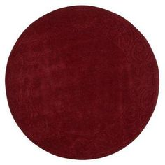 Cyrus Burgundy 7 ft. 9 in. Round Area Rug